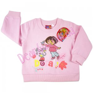 Girls Dora and her friend maroon fleece cotton jumper