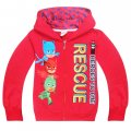 Girls Boys PJ MASKS thin hoodie jacket - red