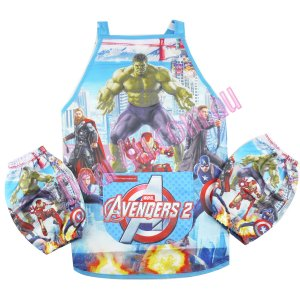Boys kichen chef craft cooking apron with sleeves - Avengers