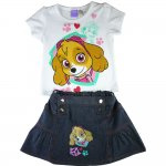 Girls Paw Patrol rescue marshall tee with denim skirt