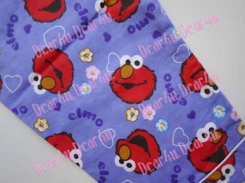Girls Flannelette Pyjama sleepwear pjs - Elmo purple - Click Image to Close