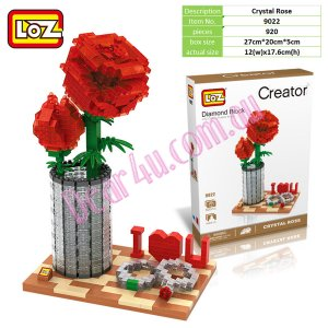 Crystal Rose with rings LOZ iBLOCK Micro Mini Building Lego