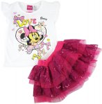 Girls Minnie Mouse top and layered dress - love bows