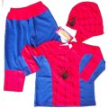 Spiderman Costume party dress up with Mask 3pcs Red Blue