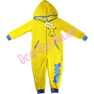 338595145a9d Boys Fleece Onesie Pyjama sleepwear pjs - Pokemon Pikachu yellow  GG ...