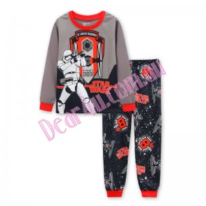 Babies boys long sleeve cotton 2pcs pyjama pjs - Star Wars