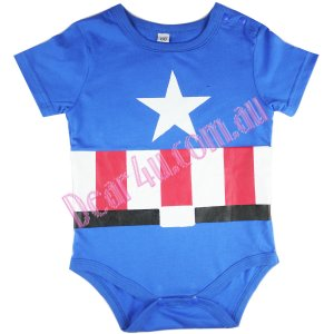Boys baby toddler cotton Baby Romper - Captain America