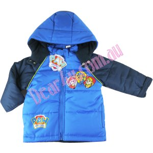 Boys Winter warm hooded Jacket coat - Paw patrol Royal blue