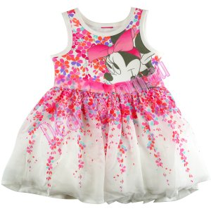Girls Minnie mouse layered baby dress