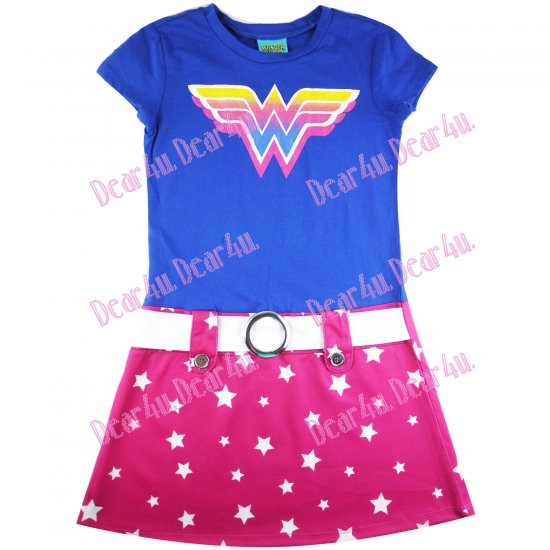 Girls one piece tennis dress - Wonder Woman - Click Image to Close