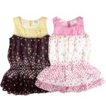 Girls ruffle party lace double layer top