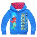 Boys PJ MASKS thin hoodie jacket - blue