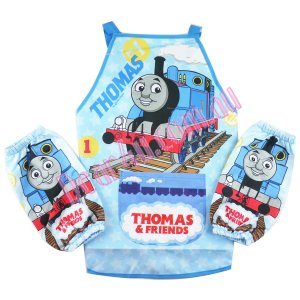 Boys kichen chef craft cooking apron with sleeves - Thomas