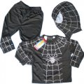 Spiderman Costume party dress up with Mask 3pcs black