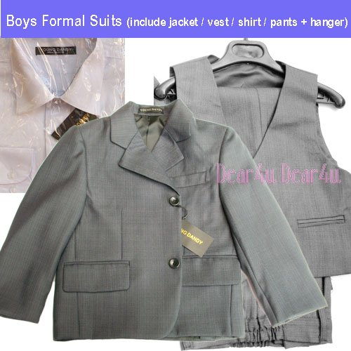 BNWT-Boys-Formal-SUIT-Christening-Wedding-dress-Grey-size-0-14-wz-white-shirt