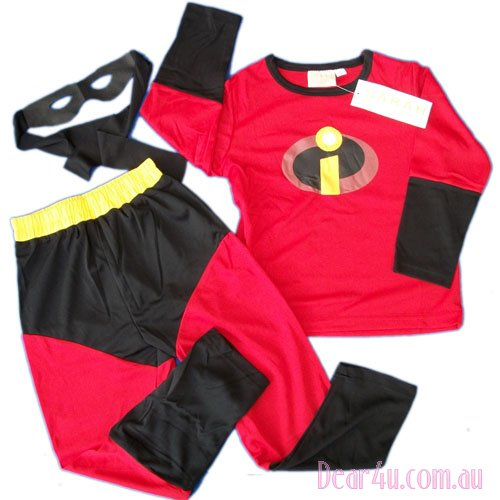 BNWT-the-Incredibles-Costume-party-dress-up-wt-Mask-3pc