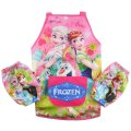 Girls kichen chef craft cooking apron with sleeves - frozen pink