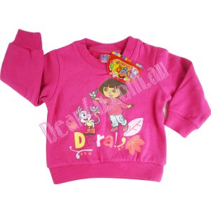 Girls Dora hot pink fleece top