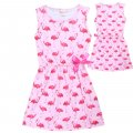 Grils Flamingo print dress