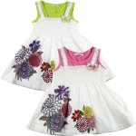 baby Girls butterfly flower dress pink and lime
