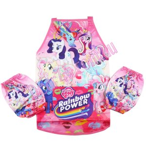 Girls kichen chef craft cooking apron wz sleeves-My little pony