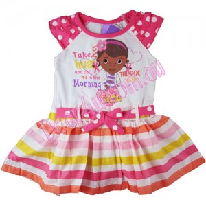 "Girls summer Doc McStuffins ""The Doc is in"" dress"