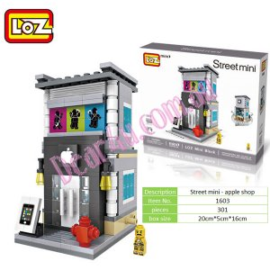 Street mini - Apple store LOZ iBLOCK Micro Mini Lego