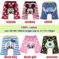 Baby boys/girls nappy cover short pants - minnie